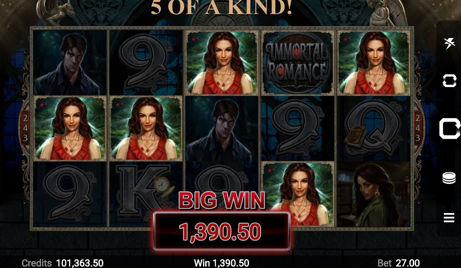 Immortal Romance slot mashine