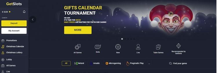official website getslots casino